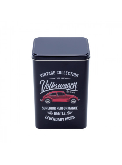 Lata Metal VW Beetle Vintage Collection Preta - Urban