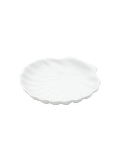 Porta Aneis Cerâmica Shell Basic Branco - Urban
