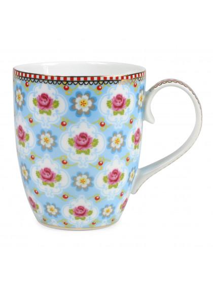 Caneca de Porcelana Blossom Azul 350ML - Pip Studio