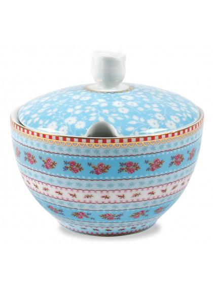 Açucareiro de Porcelana Ribbon Azul - Pip Studio