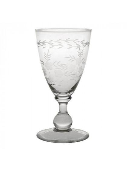Taça de Vidro para Vinho com Corte Claro Pequeno