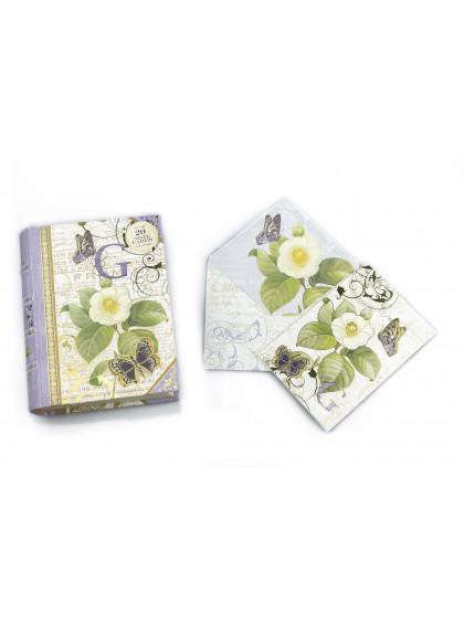 Caixa Livro G Capa com 20 Cartões e Envelope