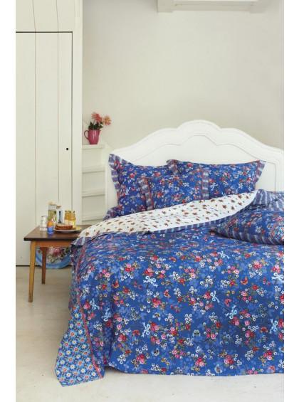 Almofada Quadrada Chinese Blossom Azul Escuro - Pip Studio