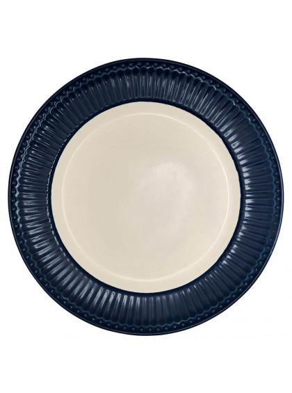 Prato de Jantar Alice Azul Escuro