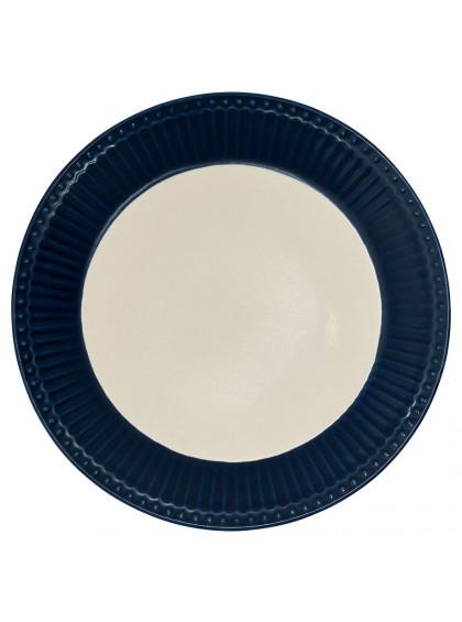 Prato de Sobremesa Alice Azul Escuro
