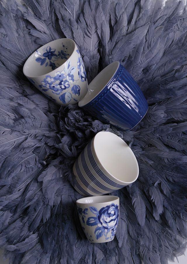 Copo Amanda Azul Escuro - Greengate