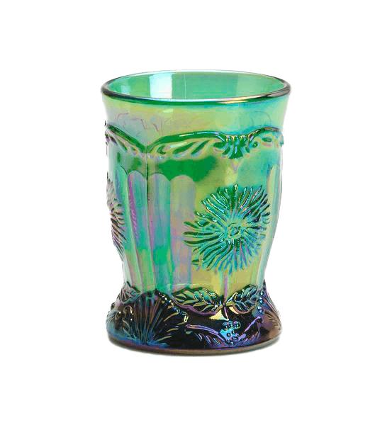 Copo de Vidro Verde Carnival - Mosser Glass