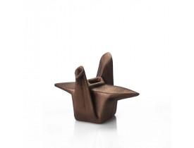Cachepot Pássaro Origami Médio Cobre