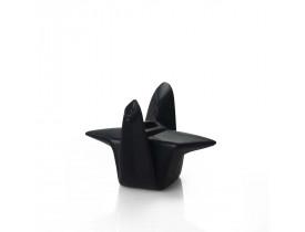 Cachepot Pássaro Origami Médio Preto - Devitro