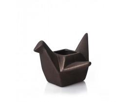 Cachepot Pássaro Origami Grande Bronze