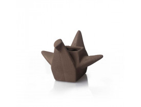 Cachepot Pássaro Origami Grande Cobre