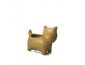 Cachepot Cãozinho Pequeno Mostarda