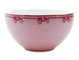 Bowl Check Rosa com Laços - Litte Diva
