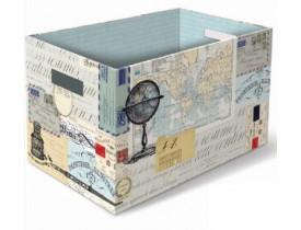 Caixa Arquivo Grande Vintage Map Collage - Punch Studio