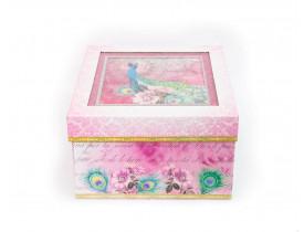Caixa Romance Peacock Pequena - Punch Studio