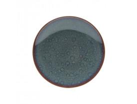 Prato de Porcelana para Sobremesa Reactive Glaze