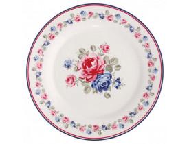 Prato de Sobremesa Branco com flores