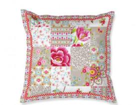 Almofada Quadrada Blossom Patch Cáqui - Pip Studio