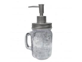 Porta Sabonete Liquido Vidro Mug W Hanger Prata - Urban