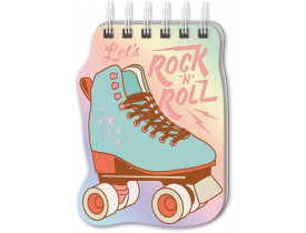 Bloco de notas espiral Rock and roll
