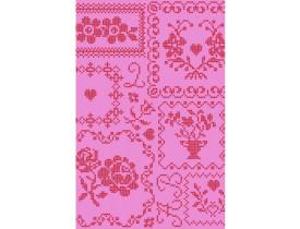 Rolo de Papel de Parede Rosa com Detalhes Vermelho - Pip Studio