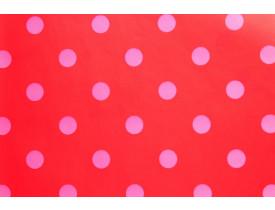 Rolo de papel de parede Vermelho Capa / Poa Rosa