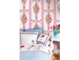Painel de papel de parede Embroidery Rosa