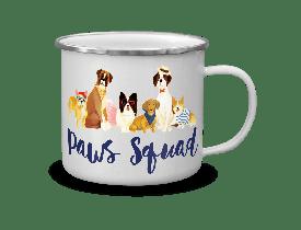 Caneca de Aço Esmaltada Dog Squade