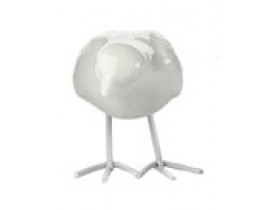 Pássaro Porcelana Branco Pé de Ferro