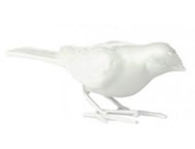Pássaro Porcelana Branco Pé de Ferro 4