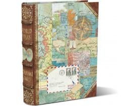 Caixa Livro World Atlas Média - Punch Studio