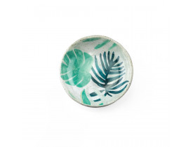 Porta-Anéis de Porcelana Double Leave Verde - Urban