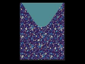 Capa para passaporte estampa Azul com flores – Punch Studio