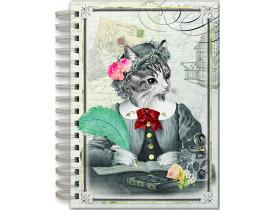 Caderno estampa Gato – Punch Studio