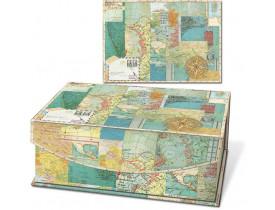 Caixa com Imã World Atlas Média