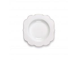 Prato de Porcelana Sopa/Salada Royal Branco - Pip Studio