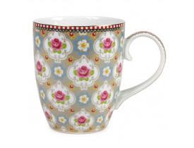 Caneca de Porcelana Blossom Cáqui 350ML - Pip Studio