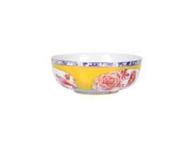 Bowl de Porcelana Amarelo com Rosa Royal 17cm - Pip Studio