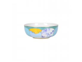 Bowl de Porcelana Azul com Amarelo  Royal 15 cm - Pip Studio
