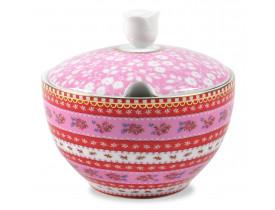 Açucareiro de Porcelana Ribbon Rosa - Pip Studio
