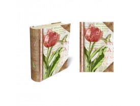Caixa Livro para cartões Pink Tulip