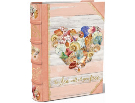 Caixa Livro Shell Heart Média - Punch Studio