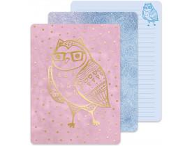 Caderno de anotações Pink Owl