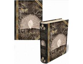 Caixa Livro Peacock Noir