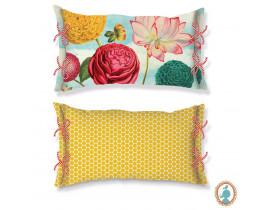 Almofada Retangular Wild Flowerland Royal Azul/Amarelo - Pip Studio