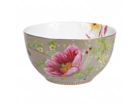 Bowl de Porcelana Chinese Garden Cáqui
