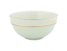 Bowl Verde Claro com Fio de Ouro