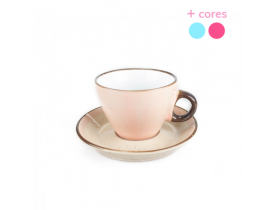 Xícara de Chá de Porcelana com Pires