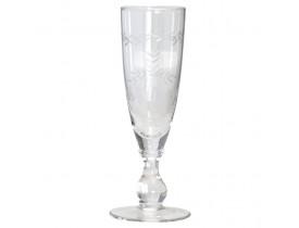 Taça de Vidro Champagne Corte