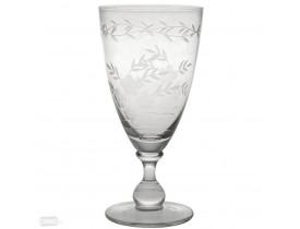 Taça de Vidro para Vinho com Corte Claro Grande